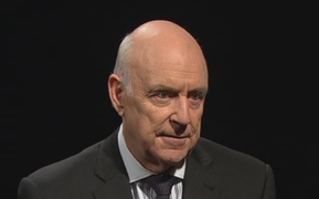 John Clarke as online news director 'Xavier Breth'