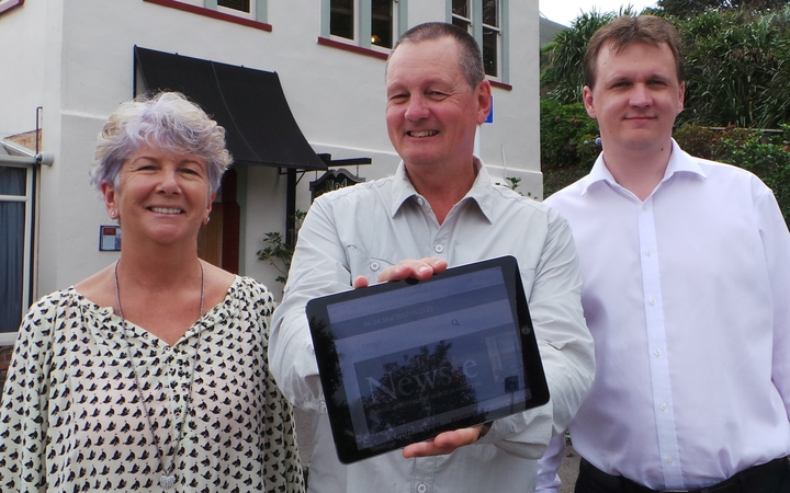The founders of new Tauranga-based local news service Newsie: Claire Rogers, Brian Rogers and Jay Burston.