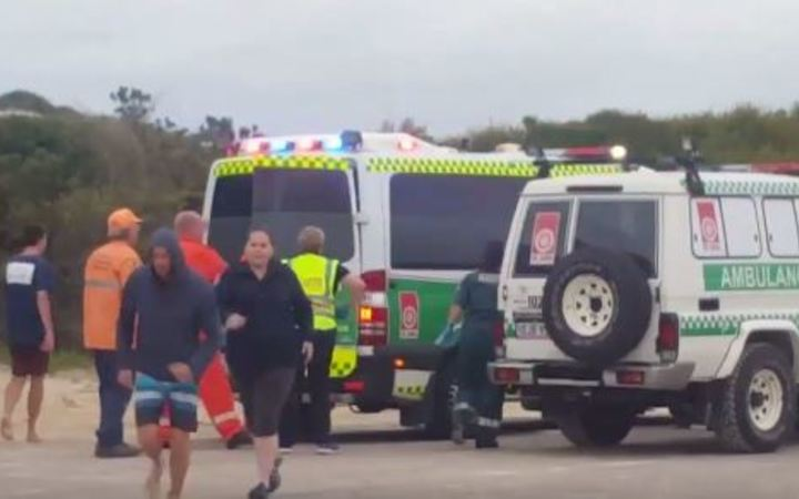 A girl was rushed to hospital after a shark attack in Wylie Bay, Western Australia