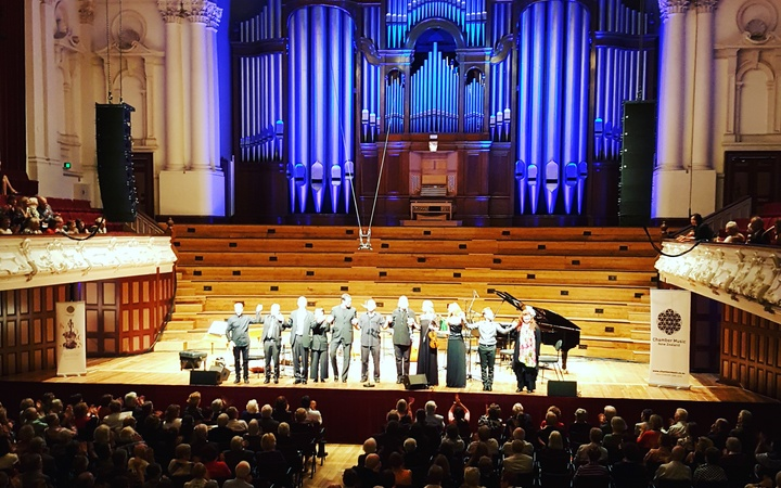 L'Arpeggiata take a bow in Auckland Town Hall
