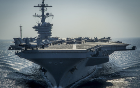 The USS Carl Vinson aircraft carrier.