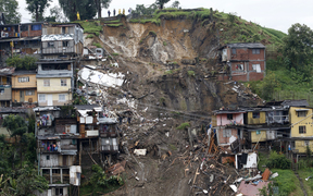 A general view after mudslides in Manizales, Caldas department, Colombia.