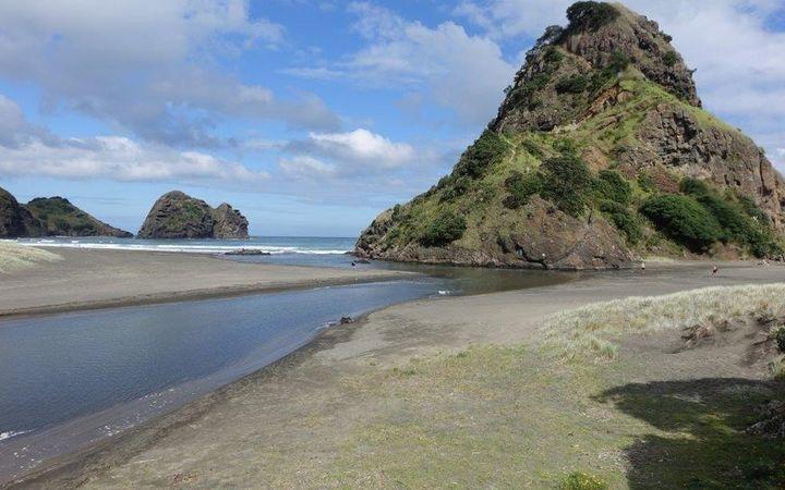 Piha beach and lagoon