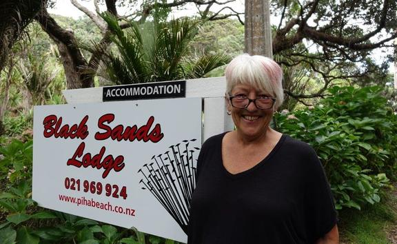 Piha resident Bobbie Carroll believes landowners with faulty septic tanks should be penalised. Photo / Anusha Bradley