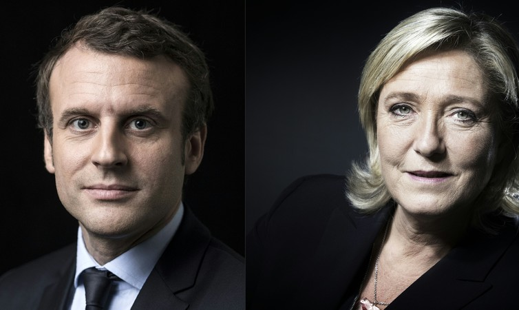 Centrist Emmanuel Macron and Front National leader Marine Le Pen