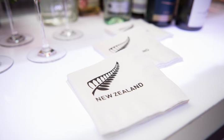 NZ-branded napkins at the Washington gala.
