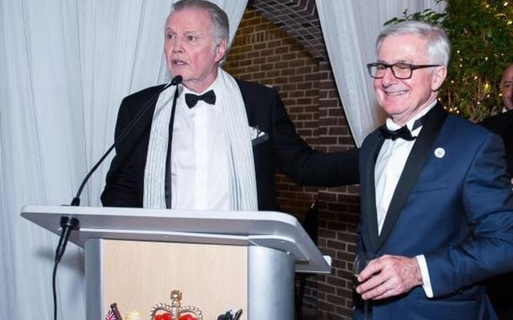 Tim Groser (right) with US actor Jon Voight at the Washington gala.