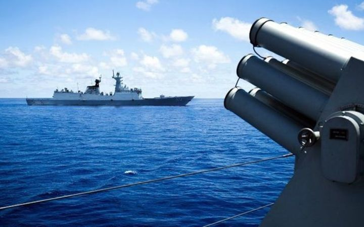 Palace 'concerned' over China missiles in disputed sea