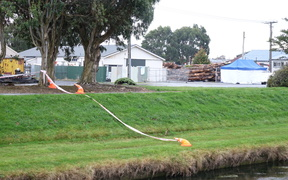 The scene of the shooting in Invercargill: Police said they found Verity McLean dead and Garry Duggan with gunshot wounds.