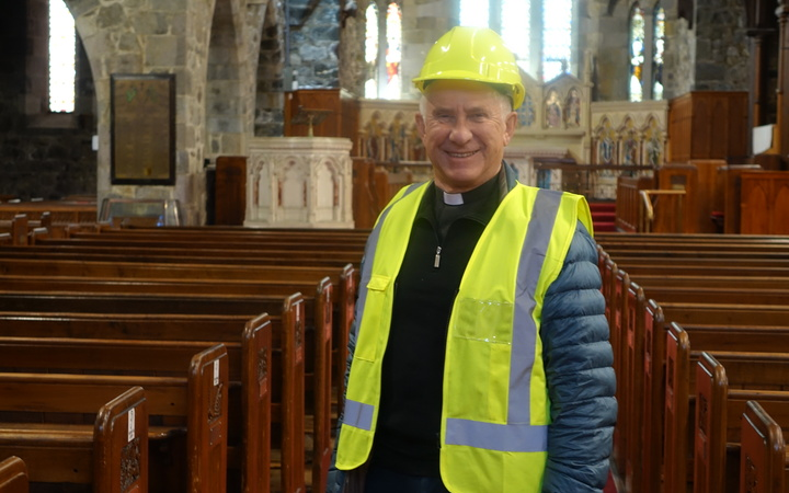 The Dean of the Taranaki Cathedral, Peter Beck, is overseeing the $15 million earthquake strengthening and enhancement project.