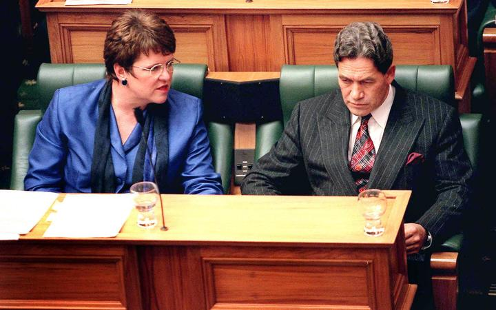 Jenny Shipley with Winston Peters.