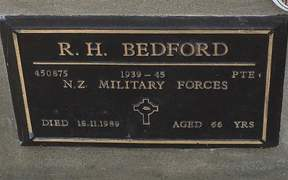 The bronze plaque on the grave of WWII veteran Raymond Bedford, which was stolen on Sunday - just two days before Anzac Day.