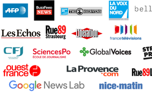 French news organisations backing the Cross Check verification service.