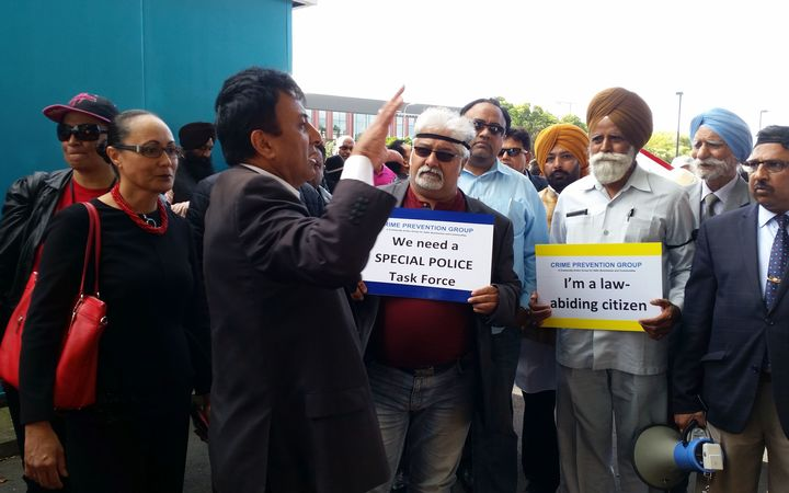Sunny Kaushal calling for greater protections for dairy owners.Photo/ Anusha Bradley