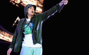 Eminem's music publisher is suing the National Party and others for breaching copyright during the 2014 election campaign.