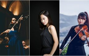 University of Auckland Autumn Graduation Gala Concerto Competition finalists (l-r) Joella Pinto, Sara Lee & Julie Park