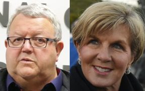 Gerry Brownlee, left and Australia's Foreign Minister Julie Bishop.