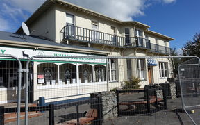 The Waiau Lodge Hotel pub, which was damaged in the earthquake in November.