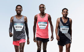 Lelisa Desisa of Ethiopia, Eliud Kipchoge of Kenya, and Zersenay Tadese of Eritrea, have been chosen to  run a sub-2-hour marathon as part of Nike's Breaking2 Project.