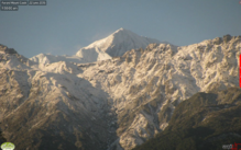 Mount Cook covered in snow.