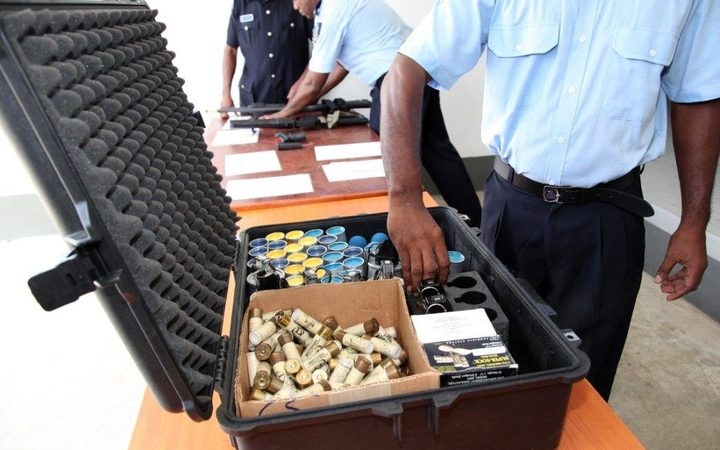 The main types of firearms with which specialised units within the Solomon Islands Police Force will be equipped include the standard police issue sidearms, tear gas launchers and shotguns.