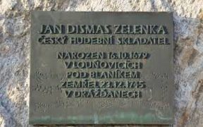 Zelenka plaque in Lounovice