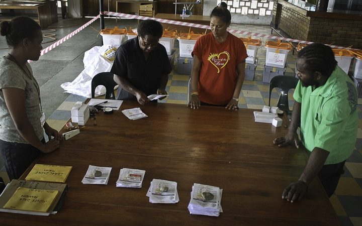 Vote counting underway in Solomon Islands