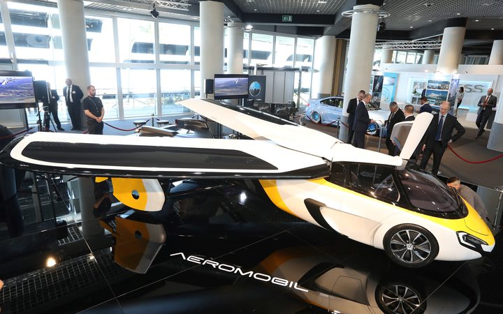 Flying cars are the latest hot thing. This Aeromobil a flying supercar was displayed at an exclusive luxury goods expo in Monaco in April 2017