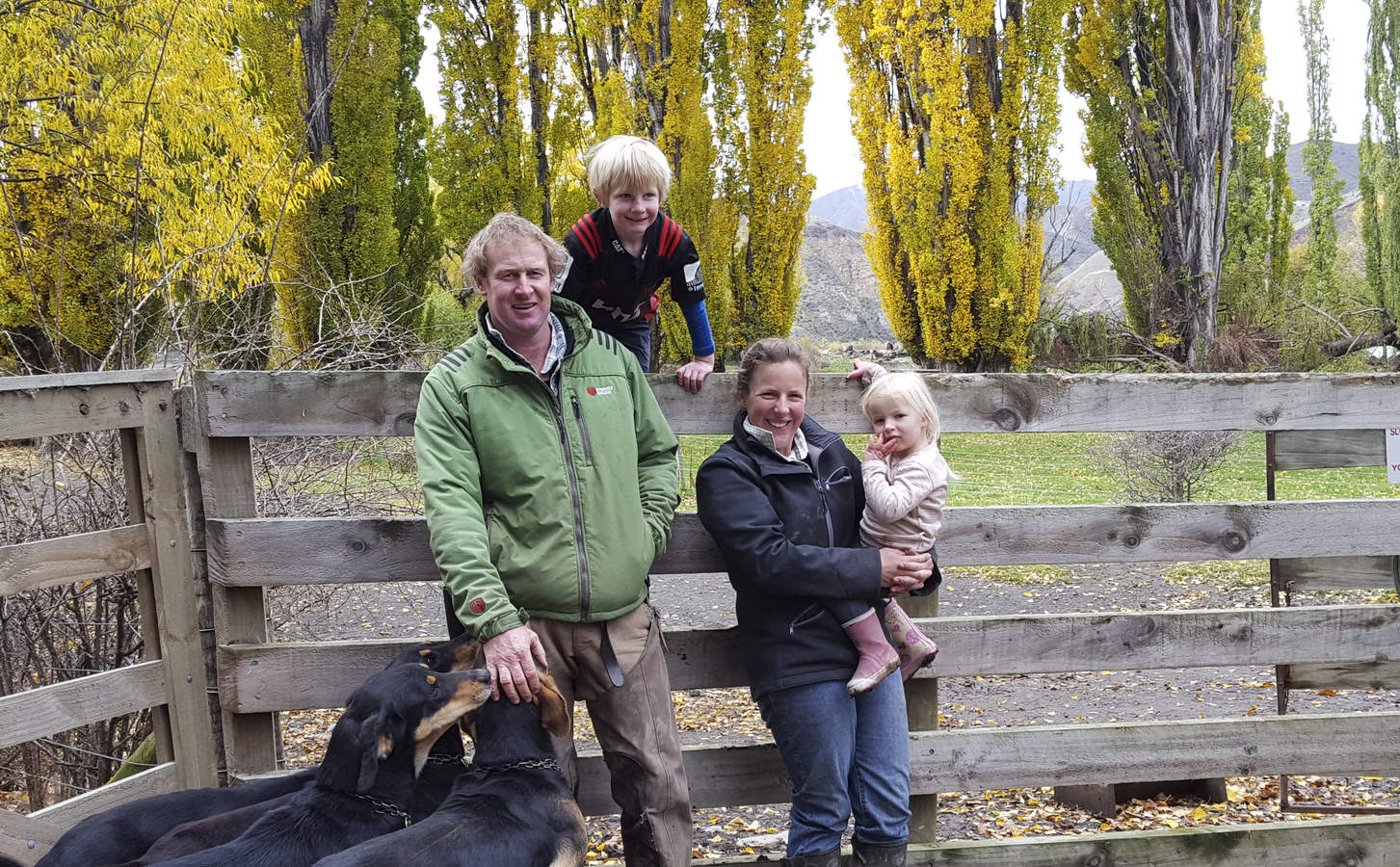 The Redfern family. (L-R) Guy, Arthur, Fiona and Matilda.