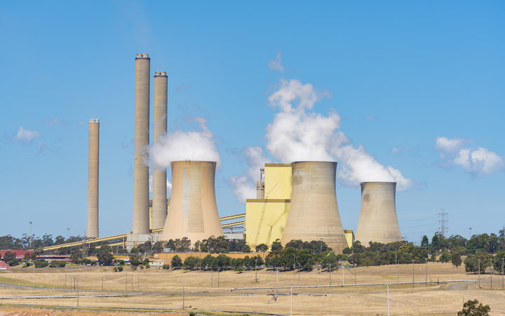 An undated file photo shows a coal-fired power station in Australia