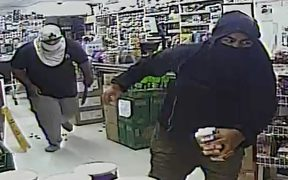 Robbers who attacked a worker at the Kingsford Supermarket in Mangere.