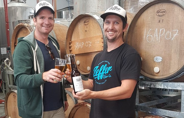 Jody Scott (head cider maker) and Sam Whitmore (founder) of Zeffer Ciders