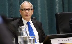 Len Brown at the Auckland Council meeting on Thursday 25 June.