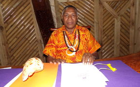 Chairman of Vanuatu National Council of Chiefs, Seni Mao Tirsupe