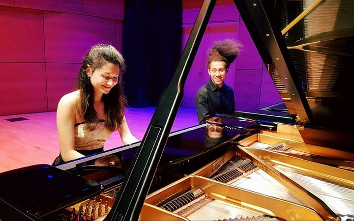 University of Waikato Conservatorium of Music Postgraduate students Noelle Dannenbring & Liam Wooding