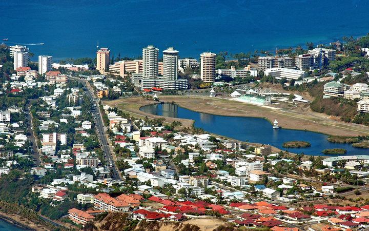 Residential areas in Noumea, New Caledonia south of the city. 2008