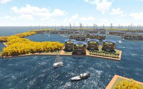 Part of the Seasteading Institute floating island design.