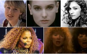 Chynna Phillips, Sinead O'Connor, Madonna, Janet Jackson, and Nancy and Ann Wilson of Heart.