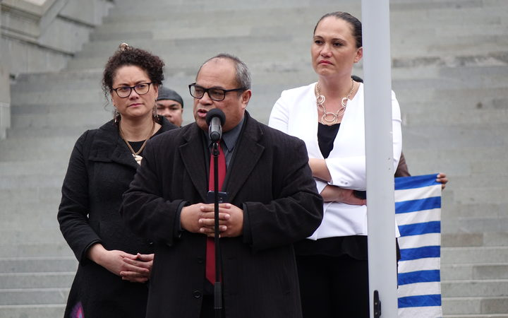 New Zealand MPs (from left   ) Louisa Wall, Su'a William Sio and Carmel Sepuloni.