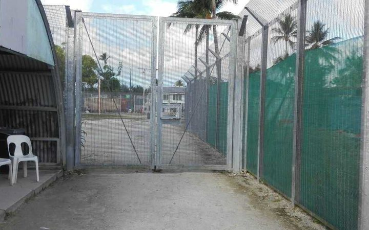 The gate to Foxtrot compound inside the Manus detention centre.