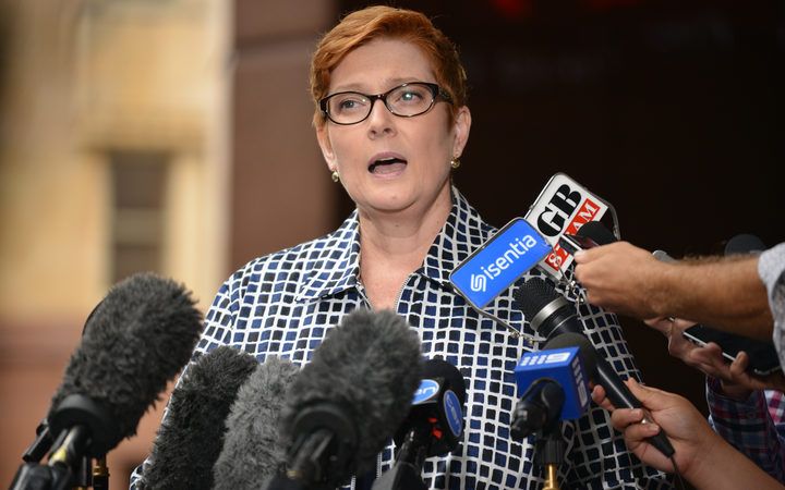 Australia's Defence Minister Marise Payne