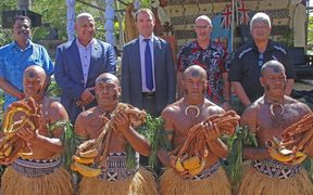 Also present are Mark Ramsden (Back row second from right) New Zealand's high commissioner to Fiji and John E. Scanlon (Back row centre) the secretary general of CITES.