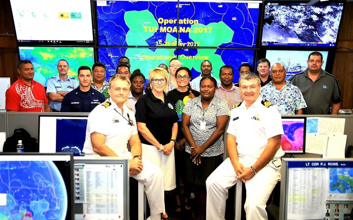 The entire Regional Fisheries Surveillance Centre team for TUI MOANA includes members from Australia, Fiji, New Zealand, Palau, Papua-New Guinea, Solomon Islands, Tonga, Tuvalu, the United States and Vanuatu.