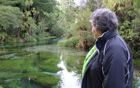 Te Rangikaheke says Hamurana Springs is not a place for swimming but people do fill their water bottles there.