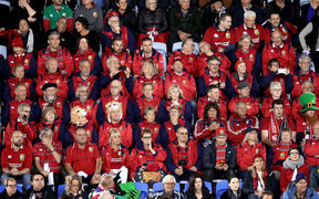 Lions supporters were out in force for the match.