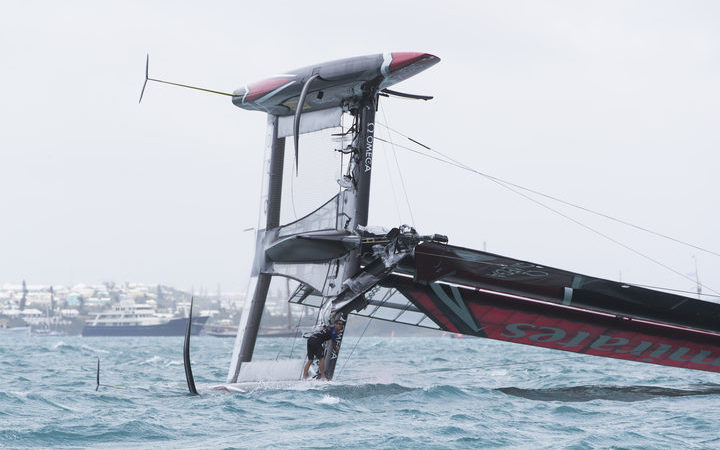 America's Cup: New Zealand hold final lead after Swedish skipper goes overboard