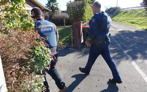 Police in Richmond, Nelson during an Armed Offenders Squad call out.