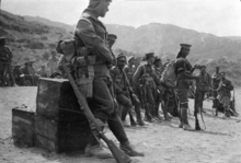 Maori Contingent soldiers at No 1 Outpost, Gallipoli, Turkey, 1915.
