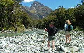 The Routeburn flat walk in the South Island.
