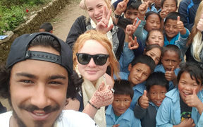 Students from the YMCA's Project Hope programme, in Nepal